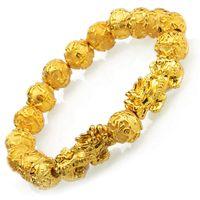 Charm Bracelets Fengshui Prosperity Pulsera 10mm Natural Bead Single Pi Xiu / Yao Atraer Wealth Health and Good Luck Cadena de muñeca