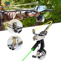 Fishing Straight Rod Slingshot Hunting High Power Precision Telescopic Laser Fish Reel Catapult Outdoor Entertainment Shooting