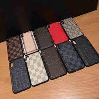 أعلى بو الجلود تصميم حالة الهاتف ل iphone11 12 12PRO 11PRO MAX XS XR 8 7 6 6S زائد 8plus 7plus فاخر شعار الحالات مع بطاقة غالاكسي نمط