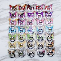 Butterfly glitter Porta telefono 3D QuickSand Roted Regolabile Kackstand Finger Universal Tablets Supporti per iPhone XR XS Samsung