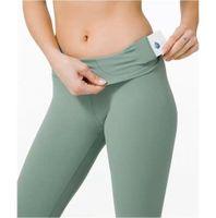 Eşsiz Tasarımcı Seksi Kıyafetler Yoga Kadın Için Yoga Suits Lu Spor Hizası Tayt Pantolon Elastik Fitness Lady Tayt Egzersiz Spor Giyim