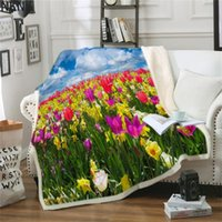 Blankets Spring Tulip Throw Blanket Floral For Bed Peony Flower Pink Gothic Gray Plush Bedspreads