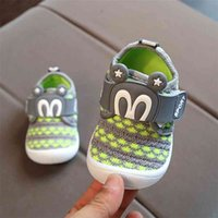 Shoes Kids Soft Knitting Breathable Baby Girls Casual Shoe Flat Round Toe Lovely Cartoon First Walkers Toddler tenis infantil 210414