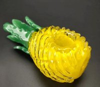Vintage Wholesale Pineapple Style Glass Bong Water Hookah Smoking pipe Oil Burner Dab Rigs Birdcage Percolator shisha VG035