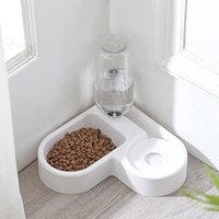 Dog Bowls & Feeders Pet Automatic Feeder Fountain Water Drinking Love-shaped Space-saving Feeding Container For Kitten Cat Supplies