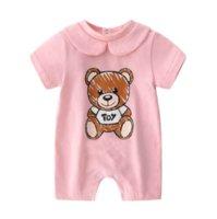 Newborn Baby Clothes Unisex Short-sleeved Cotton Little Print Bear BB New Born Baby Boy Girl Romper Jumpsuit