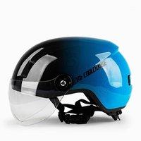 Motorcycles Half Helmet Man Women Lady Four Seasons Casque Locomotive Bike Scooter Light Safety Helmets1