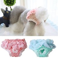 Dog Apparel Pet Puppy Sanitary Physiological Hygienic Lace Pant Panties Short Trousers Underwear Diaper For Small