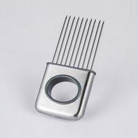Kolay Soğan Tutucu Dilimleme Sebze Araçları Domates Kesici Paslanmaz Çelik Mutfak Gadgets Artık Kokmuş Eller CCF6524
