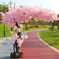 Dekoracyjne kwiaty wieńce sztuczne wiśniowe drzewo lądowanie symulacji ozdoby kwiatowe Duża Peach El Wedding Decoration Home