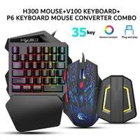 Keyboard Mouse Combos H300 Ergonomic Wired Gaming Set V100 35 Keys Single-Hand Game P6 Portable Keypad Converter Combo