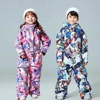 Skiing Jackets -30 Degree Children Ski Jumpsuit 2021 Winter Snowboard Jacket Boys And Girls Outdoor Snow Suits Warm Waterproof Kids