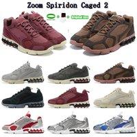عالية الجودة المسار الأحمر البيج الأحذية الأزياء التكبير spiridon caged 2 الاحذية الأحفوري 25 لون الرجال النسائية الرياضة المدربين النساء أحذية رياضية