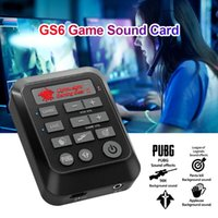 Sound Cards GS6 Game Live Card Mixer Streaming With 3.5mm Interface USB-C Laptop PC