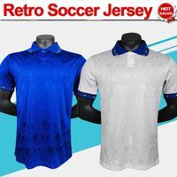 Retrô 1994 Copa do Mundo Jersey # 10 R. Baggio # 6 Baresi # 14 Berti # 21 Zola Home Azul Away Branco Camisa de Futebol da Itália Colecção de Manga Curta Homens Futebol Uniformes