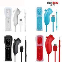 Wii Dahili Hareket Artı U Gamepad Joystick + Silikon Kılıf 2-in-1 Kablosuz Uzaktan Kumanda + Nunchuk Kontrol Oyunu Kontrol Cihazı J Joystic