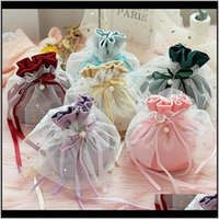 Wrap Event Festive Party Supplies Home & Garden10Pcs Luxury Packing Dstring Veet Pouch Sachet Gift Bag For Jewelry Wedding Candy Boxes With P