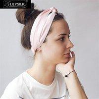 Lilysilk Silk Bandeau HeadWrap Headwrap Headwear Femmes Coiffure Accessoires Mode Croix Croix Bande Élégante Élastique Élastique réglable mignon 210329