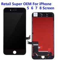 For iPhone 5C 5S 6S 7 8 Plus LCD Panels Used to repair phone display Super OEM Touch Digitizer Screen Assembly Replacement Gifts Tempered glass film & tools Retail link