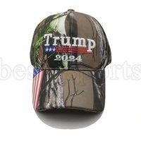 Donald Trump 2024 gorras de béisbol Camuflaje de las elecciones presidenciales de los EE. UU. Cap ajustable deportes al aire libre Camo Trump Hat Cyz3144