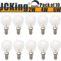 المصابيح حزمة من 10 عكسية AC120V / 220V 2W / 4W / 6W E14 / E12 المسمار LED الكلاسيكية متجمد المصباح، G45 ses خمر غلوب ضوء لمبة للثريا