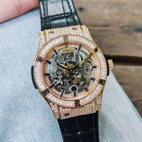 Мужчины женские алмазные часы высшего качества дизайнерские часы автоматические механические из нержавеющей стали Серебряное розовое золото мастер-наручные часы