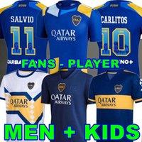 Fanlar oyuncu 21 22 Boca Juniors Futbol Formaları Salvio 115th Yıldönümü Maradona Tevez 2021 2022 Fabra Carlos Camiseta Futbol Futbol Gömlek Erkekler + Çocuk Kitleri Üniformalar