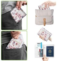 Storage Bags Travel Passport Cover ID Card Slot Case Holder Organizer Purse Money Bag Wallets Covers For Girls Women Men 6x4.3x0.7in