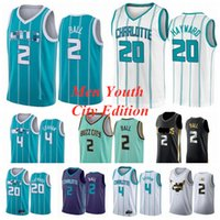 2020 2021 Draft Pick 2 Lamelo Bola NBA Jersey Mint Green Green 20 Gordon Hayward 4 Devonte Graham City Mans Charlotte Hornets Edição S-XXXL