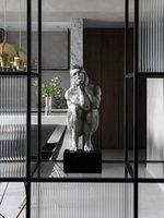 Fabrik Direkter Verkauf von modernem Licht Luxus Kreative Charakter Ornamente Denker Desktop Skulptur Veranda Wohnzimmer Kunsthandwerk