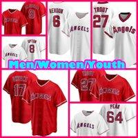 Angels Jerseys Shohei ohtani Mike Trout Los Angeles Anthony Rendon Dylan Bundy Jared Walsh Baseball David Fletcher Justin Upton Hommes David Fletcher Hommes Jose