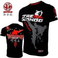Verano vszap taekwondo hombres fitness camiseta entrenamiento deportivo peleas de manga corta MMA competencia desempeño camiseta