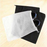 Cuerda de viaje Almacenamiento de zapatos No tejido Grueso Grueso Familia Polvo a prueba de polvo Bolsa Blanco y negro Conveniente y práctico