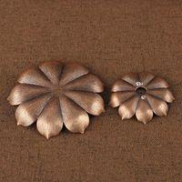 Incenso Burner Reflux Stoss Indense Home Buddhism Decoração Coil Censador com Forma de Flor Lotus Bronze / Cobre Zen Budd 502 V2