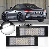 Car Light Source 2pcs lot 24 LEDs Trunk Lamp Car LED License Number Plate Light for BMW E81 E87 E63 E64 E89 Z4 F20 F21