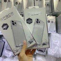 공간 케이스 클리어 아크릴 Shockproof 휴대 전화 케이스 iPhone 12 미니 11 Pro Max XR XS 6 7 8 플러스 소매 패키지 S21 S20 S10