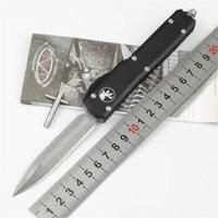 High Headness Damascus Blade Camping Нож алюминиевый сплав черный титановый ручка на открытом воздухе EDC автоматический инструмент