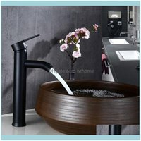 Bathroom Faucets, Showers As Home & Gardethroom Sink Faucets Black Stainless Steel Paint Faucet Basin Cold Mixer Tap Y98E1 Drop Delivery 202