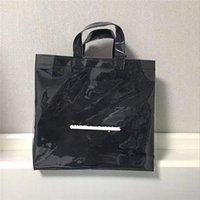 Designer - Paper PVC Sac shopping Unisexe Lettre Casual Tote Casual Mode Sacs à main Solides Design Plage Clear Plage Étanche Sacs
