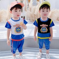 Baby Clothing Sets Boys Suit Children Outfit Clothes Summer Cotton Short Sleeve T-shirts Shorts Pants 2Pcs Casual Kids Tracksuit 1-5Y B5053
