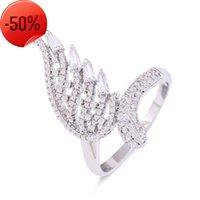 Nuovi accessori Anello di serpente Tail femminile 18 carati in oro rame micro intarsiato zircone angelo
