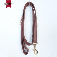 Dog Collars & Leashes MUTTCO Retailing Self-designed Fashion High Quality Collar Like Gentleman THE BROWN SUIT Leash 5 Sizes UDC039J