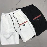 2021 Yaz Yeni Tasarımcı Şort Pantolon Ünlü Erkek Klasik Mektuplar Baskılı Şort Moda Pantolon Rahat Pamuk Kırmızı Şerit Pantolon
