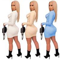 Kobiet Maxi Solid Sukienka Moda Drapowane Design Damska Seksowna Sukienka Erotyczne Ruffles Casual Muzułmańskie Nosić Suknie V Neck Długa Damska Dress Slee