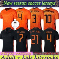 Memphis 2021 Versión de Player Netherland Versión Fan Edition Jerseys de Jong Holland Strootman Van Dijk Virgil 2022 Jersey de fútbol Hombres para adultos + Kit Kids