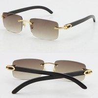 الجملة بيع بدون شفة أسود حقيقي الأصلي بوفالو القرن النظارات الشمسية 18 كيلو الذهب للجنسين الذهبي البني رمادي أحمر أزرق UV400 عدسة الذكور والإناث الإطار الحجم: 56-18-140mm