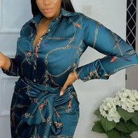 Plus Size Tracksuits 2 peças Sets Mulheres Lace Up Skirt Moda Suits Femme Vestiods Africano Manga Longa Impresso Blusa Elegante Trabalho