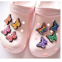 나비 만화 PVC 신발 매력 신발 버클 액션 피겨 맞춤 팔찌 CROC JIBZ SHOE의 액세서리 팔찌 여자 선물