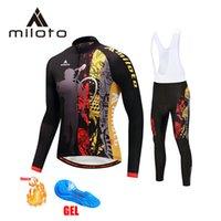 2022 Miloto Arty Bikers Team Зимний Велосипед Джерси Набор Велосипеда Одежда Дышащие мужчины Тепловой флис с длинным рукавом рубашка Bike Bib Bib B2