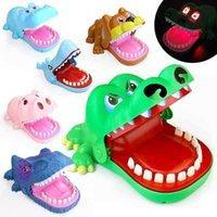 Bocado cocodrilo truco descompresión juego de descompresión sonido sonido luz tiburón dinosaur bite dedo juguete